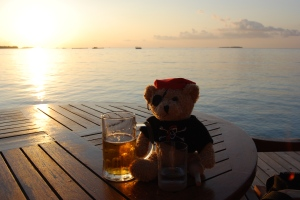 Jack Bearow beim Sundowner