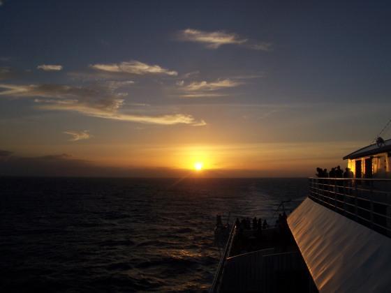AIDA letzter Sonnenuntergang Karibik