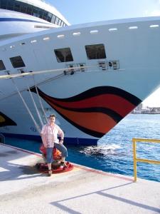 Daniel AIDAaura Cozumel Cancun Mexico Hafen