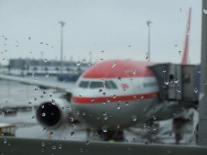 Flughafen München Schneeregen