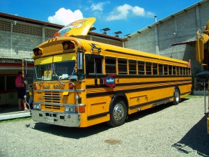 Honduras San Pedro Sula Schulbus