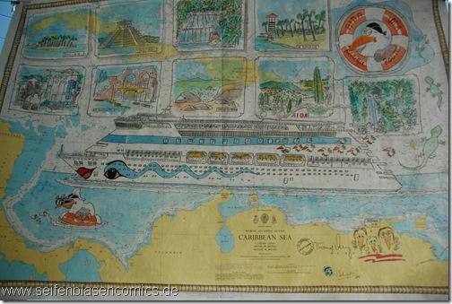 Comicbild-Karibikreise