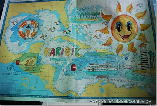 Comicbild-Karibiksonne