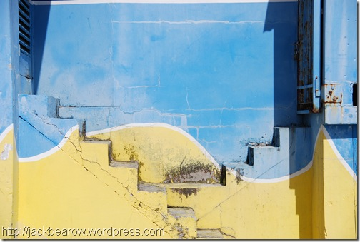 Treppen-blau-gelb