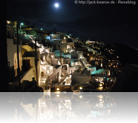 Fira Thira Santorin Greece Griechenland by night