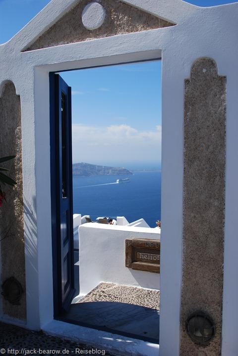 Imerovigli Santorin Greece Griechenland Kykladen View Ausblick