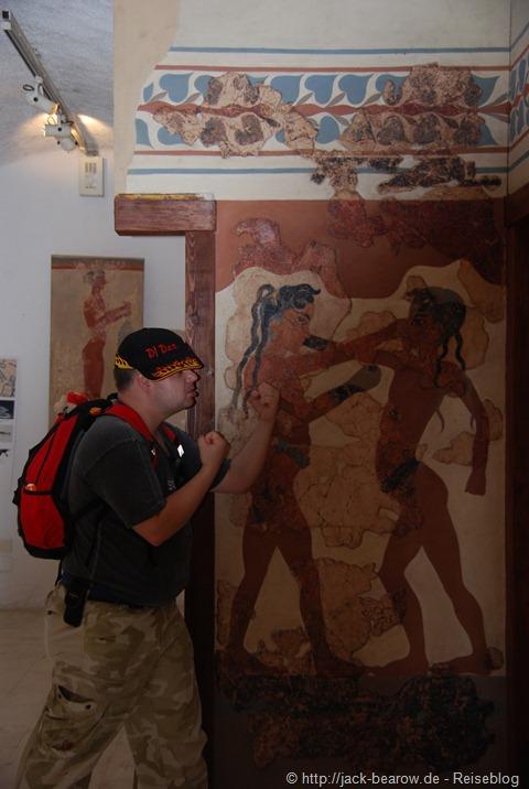 Museum Santorin Fira Thira Greece Griechenland funny boxing boxer boxen