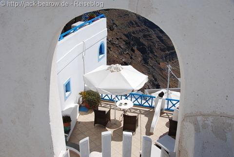 Santorin Greece Griechenland Zimmer mit Ausblick Room with a View
